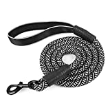 #10: YUDODO 5 FT 6 FT Dog Rope Leash with Comfort Grip and Reflective Strip Heavy Duty Pet Dog Training Leashes for Medium and Large Dogs