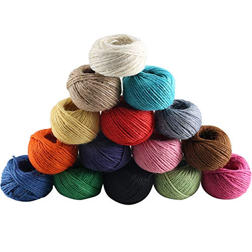 Ply 3 Hemp (Jute Twine, Dayree 15 Roll 1230 Feet (410 Yards) 2mm 3 ply Natural Twine String Cord Rope Roll for Floristry Gifts DIY Arts&Crafts Decoration, Gift Wrapping Twine)