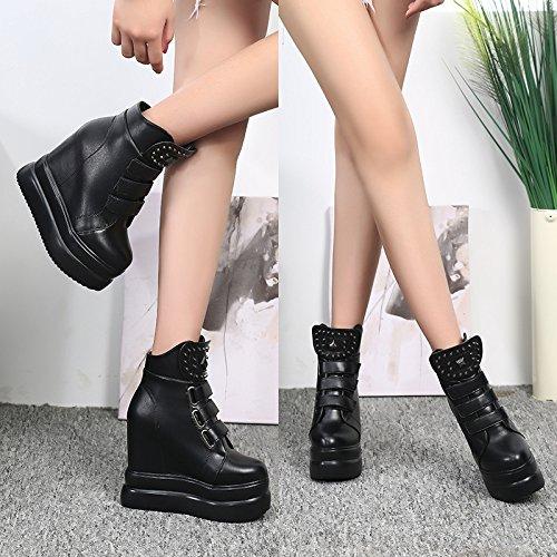 invierno metros tiene negro 14 el XiaoGao algodón botas y estilo de nuevo el otoño el En 4XqPF