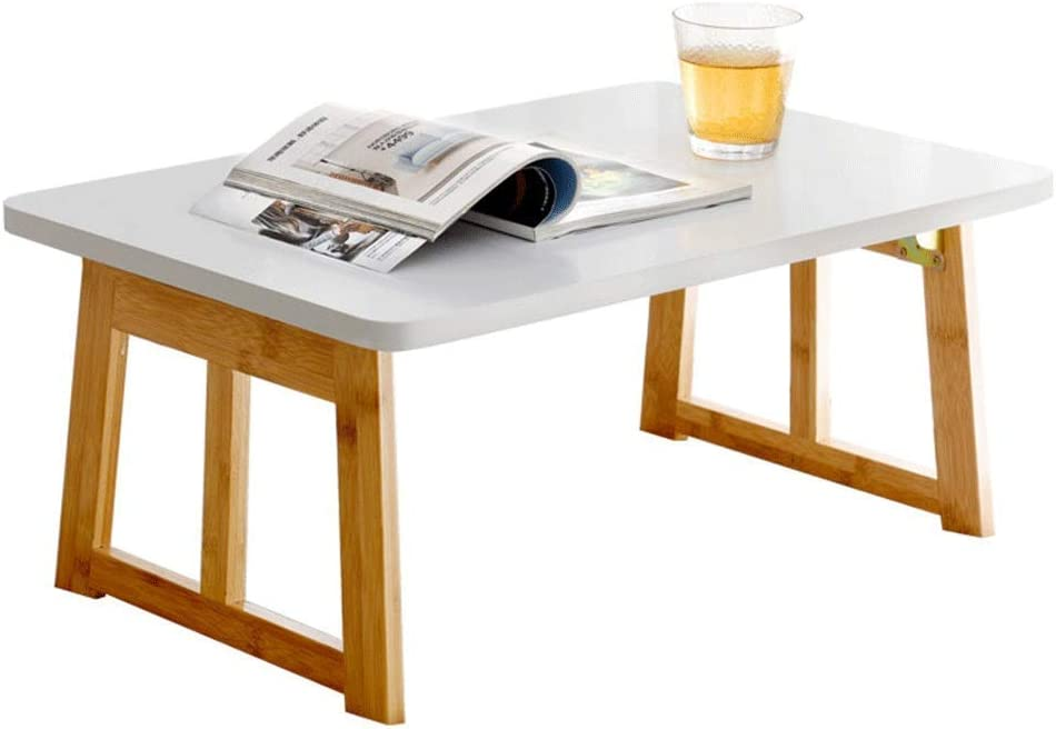 MYPNB Tavolo Laptop Side Table Desk Fine del Lato del Letto Pieghevole ASSE da Stiro con Specchio for Montaggio a Parete a ribalta Tavolino Color : White, Size : 35.5 * 17.5 * 95cm