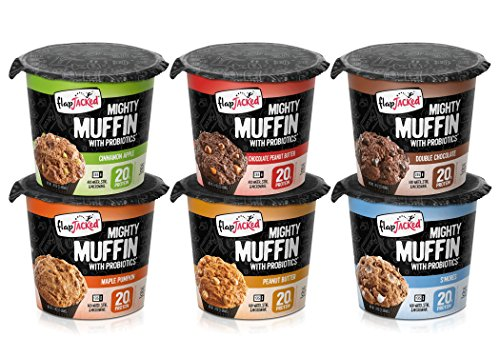 FlapJacked Mighty Muffins, Gluten-Free Variety, 6 Pack