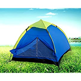 POCO DIVO 2-person Family Camping Dome Backpacking Tent 90 Great for the warm or cool weather, and is coated to help repel water Polyethylene binding floor & Polyester rain fly provide water and wind resistance Open mesh roof area provides excellent cross ventilation throughout