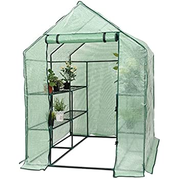 Ordinaire Superbuy Portable Greenhouse 8 Shelves Mini Walk In Outdoor Green House 2  Tier For Garden Patio Backyard