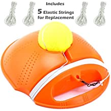PROIMB Tennis Trainer Power Base Rebound Ball | Solo Practice Equipment Training Aid Serve Machine Launcher Sport Tape Exercise Pro Powerbase Baseboard Rebounder Kids Hopper Set Kit Bundle