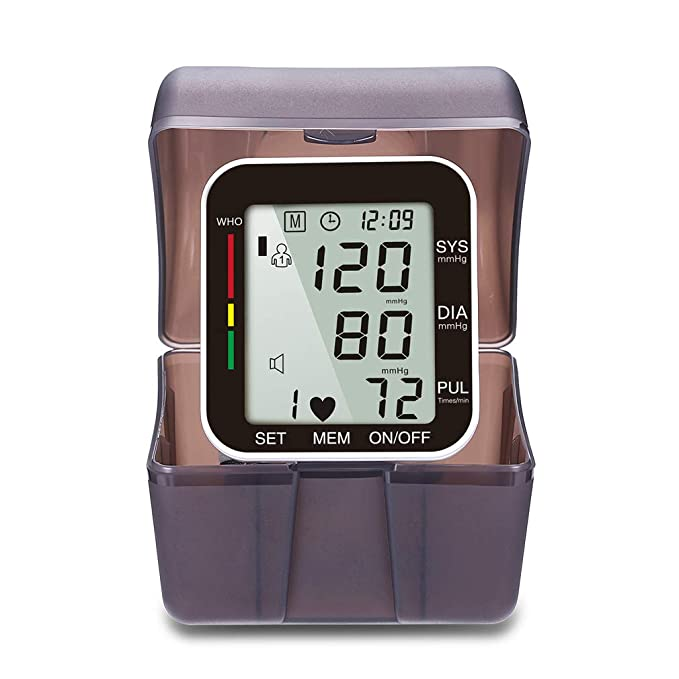 Digital Tensiómetro de muñeca automática, pantalla grande, con sangre automática Ruck de pulso de medición y movimiento de Sens con supresión de control, ...