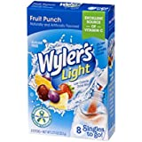 Wyler's Light Singles To Go Powder Packets, Water Drink Mix, Fruit Punch, 96 Single Servings (Pack of 12)
