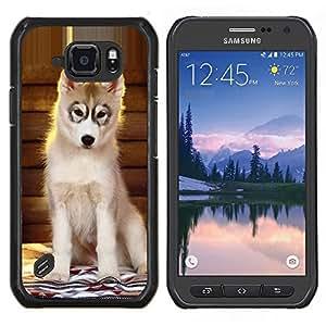 LECELL--Funda protectora / Cubierta / Piel For Samsung Galaxy S6Active Active G890A -- Perrito del perro esquimal de Alaska Perro del Malamute --