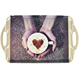 Melamine Dining Tray Food Drink Home Work Kitchen Restaurant 4 Designs Strong - Coffee Cup Design by Royle