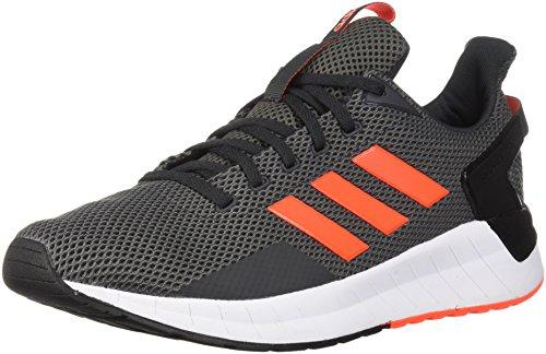 adidas Men's Questar Ride Running Shoe, Carbon/Solar Red/Grey Four, 9 M US -