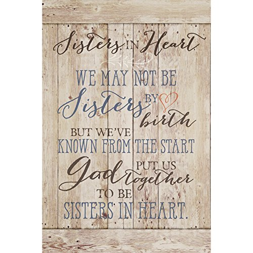 Dexsa Sisters in Heart...New Horizons Wood Plaque with -