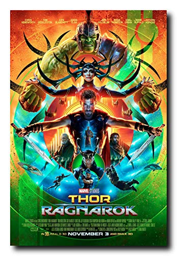 Mile High Media Thor Ragnarok Movie Poster 24x36 Inch Wall Art Portrait Print with Free Mounting Stickers ()