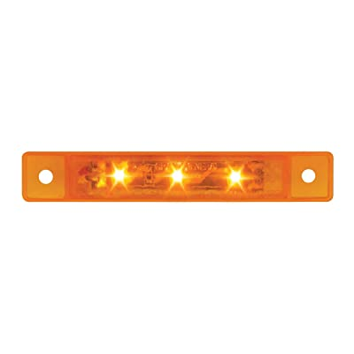 "GG Grand General 76280 Amber/Amber Light (3.5"" Ultra Thin 3-LED Marker/Clearance): Automotive"