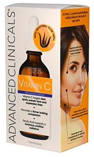 Advanced Vitamin C Skin set for face and body. Size 16oz Vitamin cream face serum spots, skin tone little weeks!