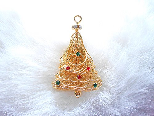 Eisenberg Ice Crystal Christmas Tree Pin & Pendant - Eisenberg Christmas Tree Pin