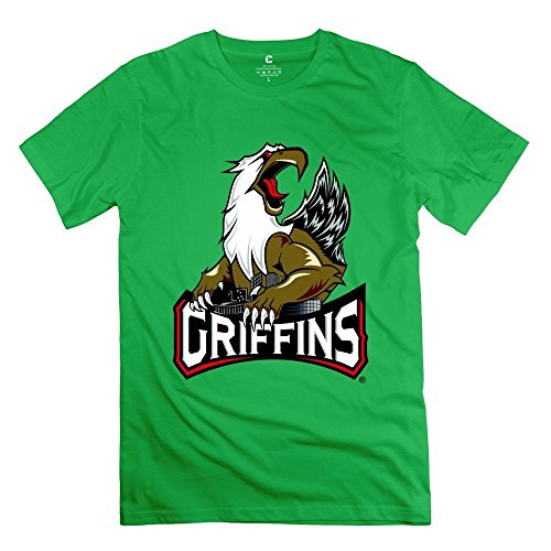 Men's Grand Rapids Griffins New Logo 100% Cotton Tshirt - Michigan Grand Rapids Shopping