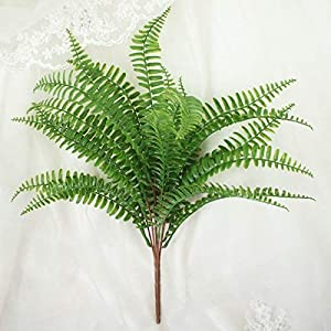 """Lily Garden 18"""" Artificial Soft Plastic Fern - Package of 3 2"""