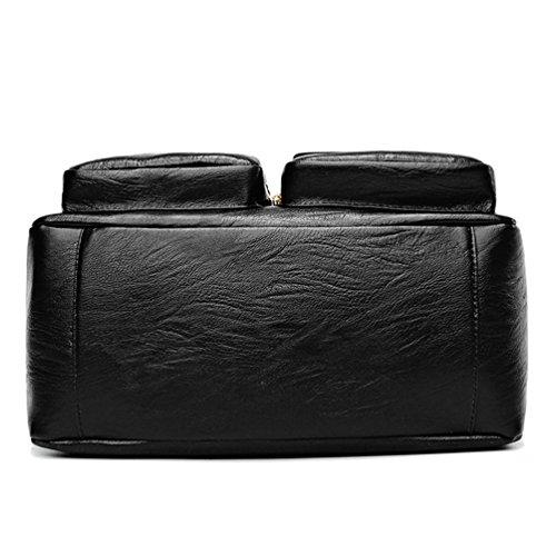 Sac Sac à Pochette Multi Noir Poches Main Anguang en Femmes Cuir Bandoulière Classique PU FqA8w5E
