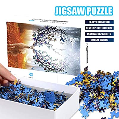1000 Pieces Jigsaw Puzzles for Adults and Childs, Family Educational Toy Sets, Holy Elk Pattern, Difficult Puzzles for Players, Puzzle Toy: Toys & Games
