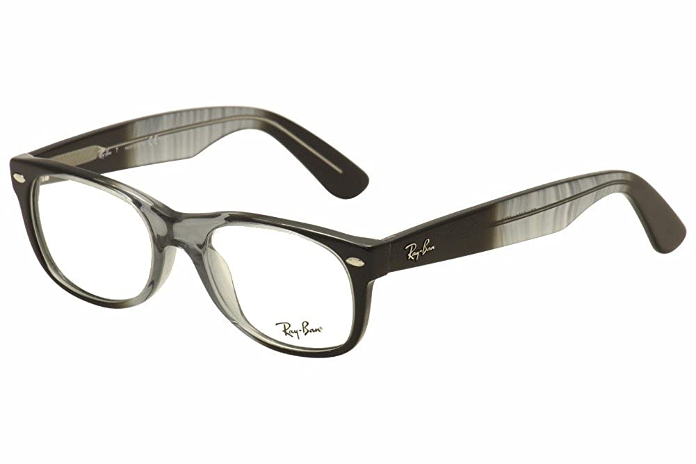 2b545600a9 Amazon.com  Ray-Ban New Wayfarer Eyeglasses RX5184 5515 Gradient Grey On  Black 50 18 145  Shoes