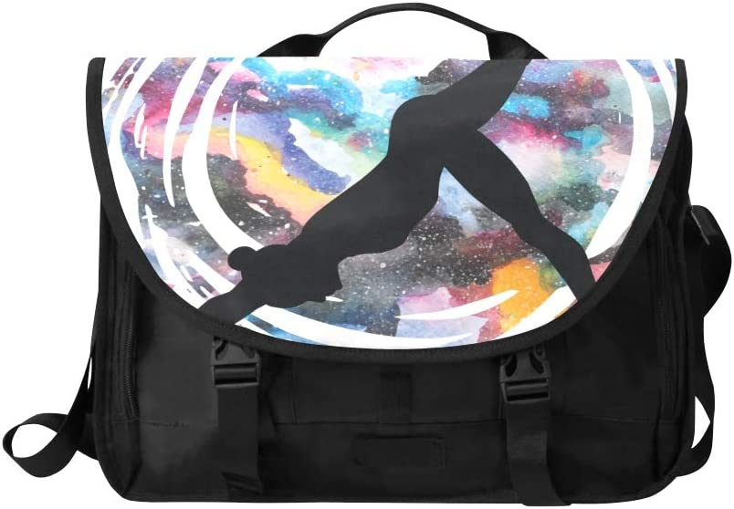 Satchel Women Handbags Beautiful Yoga Movements Multi-Functional Fashion Woman Bag Fit for 15 Inch Computer Notebook MacBook