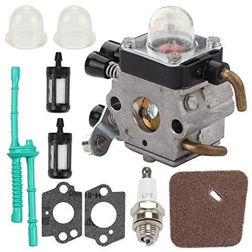 Mannial C1Q-S97 Carburetor Carb fit ZAMA C1Q-S71 STIHL FS38 FS45 FS46 FS55 KM55 HL45 FS45L FS45C FS46C FS55C FS55R FS55RC FS85 FS80R FS85R FS85T FS85RX String Trimmer Weed Eater with Air Filter -  4140 120 0612 4140 120 0619 41371200608