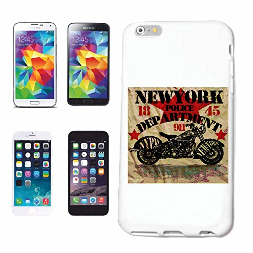 "cas de téléphone iPhone 7S ""NEW YORK POLICE DEPARTMENT CHOPPER BIKER SHIRT MOTO CHOPPER MOTO GOTHIQUE SKULL MOTO CLUB BIKE ROUTE 66"" Hard Case Cover Téléphone Covers Smart Cover pour Apple iPhone en b"