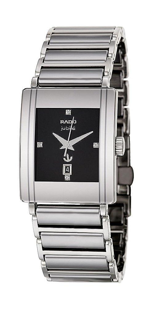 5d8384ffe Rado Integral Jubile Stainless Steel Mens Watch Calendar Black Dial  R20692722: Amazon.co.uk: Watches