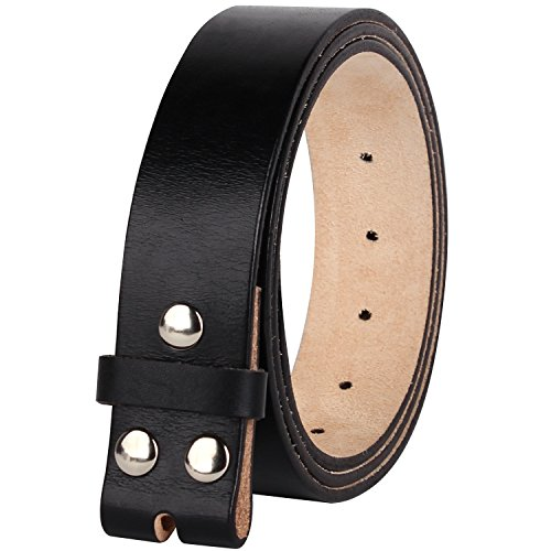 NPET Men's Full Grain 100% Leather Vintage Genuine Belt without Belt Buckle 1.5