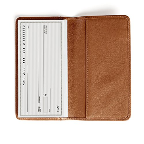 Leatherology Standard Checkbook Cover - Full Grain Leather - Cognac (brown)