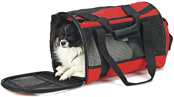 Travel Gear Front Pouch Pet Carrier in Red