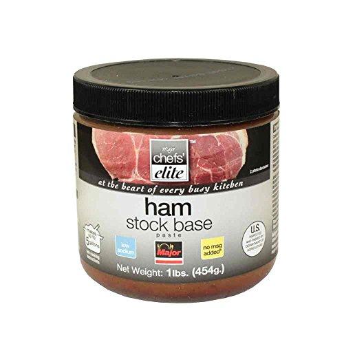 Sodium Low Ham (Major Chefs Elite Low Sodium Ham Stock Base, 1 Pound Jar - 6 per case.)