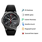 Samsung Gear S3 Tempered Glass Screen Protector - Premium 9H Japanese Ballistic Glass Protection - 2 Pack - Perfect Size - HD Clarity - Super Thin - Easy Install Accessory for the Gear S3