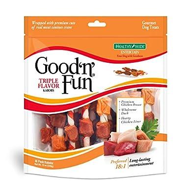 Healthy Hide Good'n'Fun Triple Flavor Kabobs,12 oz from Tetra