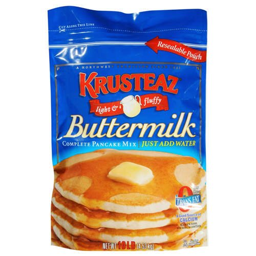 Krusteaz Buttermilk Pancake Mix - 10 lb. - CASE PACK OF 2