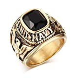 Best VNOX Friend Jewelry White Golds - United States Navy Rings,Marine Corps,USMC,Stainless Steel Gold Plated Review