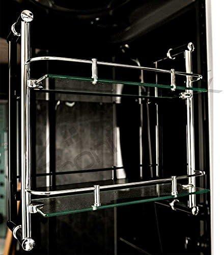 troni técnica Vapor ducha ducha Templo Whirlpool Bañera Completo ducha cabina de ducha Ducha 150 x 150 negro: Amazon.es: Hogar