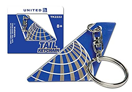 Amazon United Airlines Tail Keychain Automotive