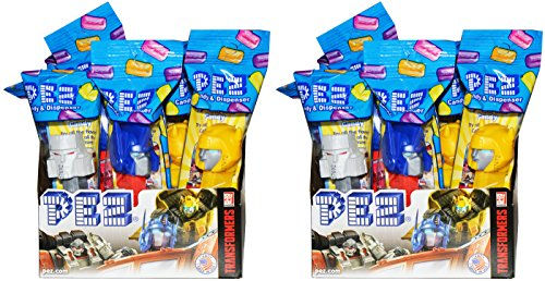 Transformers PEZ Candy Dispensers Party Favors: Pack of 24