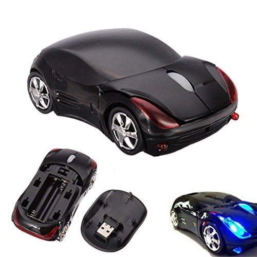 Hot 3D WIRELESS 2.4GHz 1600DPI USB OPTICAL CAR MOUSE MICE FOR PC LAPTOP COMPUTER (Microsoft Mobile 5000)