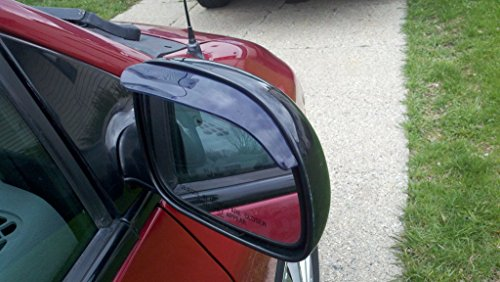 TRUE LINE Automotive Black Smoke Mirror Visor Rain Guards Smoked ()