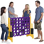 ECR4Kids Jumbo 4-to-Score Giant Game Set - Oversized 4-in-A-Row Fun for Kids, Adults and Families - Indoors/Outdoor Yard Pla