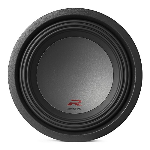 Alpine Type R 10 Inch 2250 Watt Max 4 Ohm Round Car Audio Subwoofer | R-W10D4