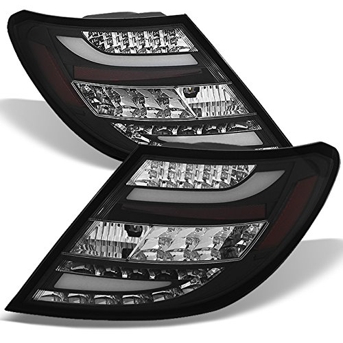 For 11-14 Benz W203 C-class 4 Doors Sedan Black Bezel Rear LED Tail Lights Brake Lamps Replacement Pair Class Led Tail Lights Lamps