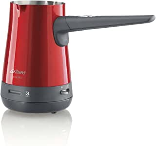 Arzum AR3017 Türk Kahvesi Makinesi, 800 w, Çelik/Kırmızı