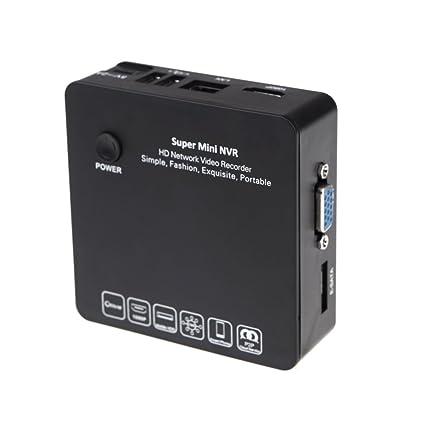 Anself Mini Grabador de IP Cámara Cámara de Vigilancia NVR HDMI E-SATA HDD Conexión