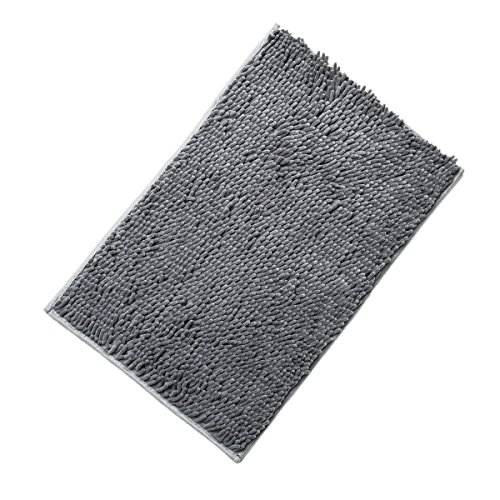 "Shaggy Bath Rug – Citmage Microfiber Shag Mat Non-slip,Extra Soft,Strong Absorbent,Washable for Doormats,Bathroom,Shower,Toilet ( 20""x 32"",Gray )"