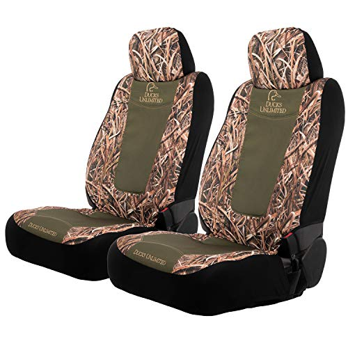 Ducks Unlimited Camo Seat Covers | Low Back | Wetlands | 2 Pack