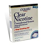 Equate Clear Nicotine Transdermal System Step Two  14 mg Stop Smoking Aid Patches, 14-Count Box