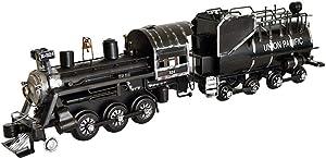 LIUSHI Steam Locomotive Decoration, Locomotive Model Metal Crafts Wrought Iron 3D Train Sculpture Decoration Creative Crafts