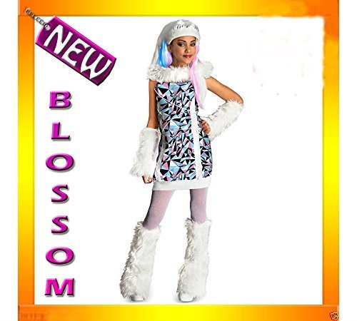 CK50 Monster High Abbey Bominable Child Girl Costume Fancy Dress Up Party Outfit (large)]()